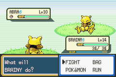 Pokemon Fire Red - Battle  - A Battle of the Brains! A Battle of witts! - User Screenshot